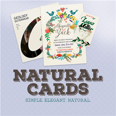 BUSINESS CARDS - Natural