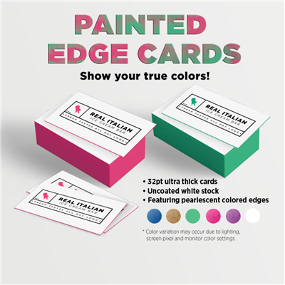BUSINESS CARDS - Painted Edge