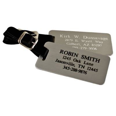 BADGES - Engraved Luggage Tags